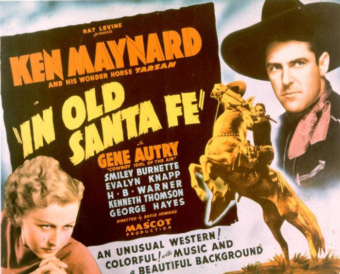 Evalyn Knapp and Ken Maynard in In Old Santa Fe (1934)