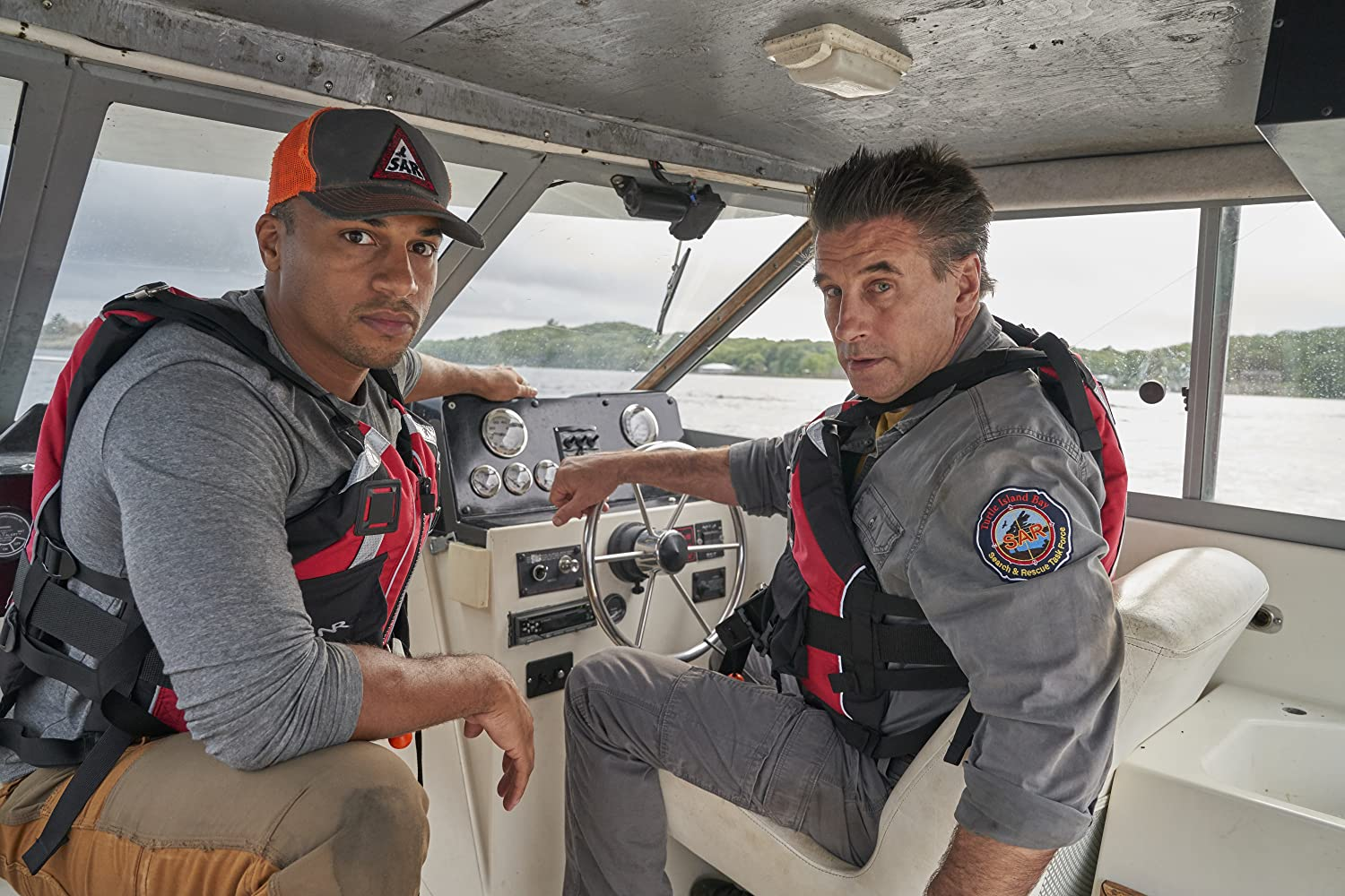 William Baldwin and Michael Xavier in Northern Rescue (2019)
