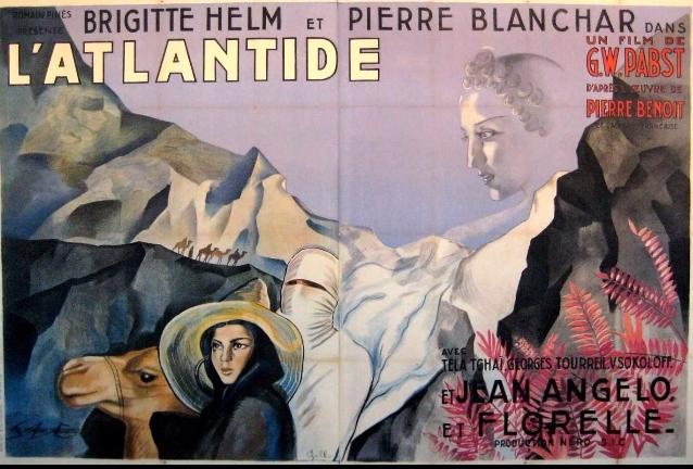 Pierre Blanchar and Brigitte Helm in L'Atlantide (1932)