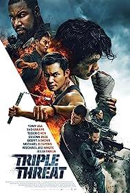 Scott Adkins, Tiger Hu Chen, Michael Jai White, Tony Jaa, Michael Bisping, JeeJa Yanin, and Iko Uwais in Triple Threat (2019)