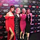 Barbara Crampton, Brea Grant, Elise Luthman, and Sophie Dalah at the premiere of DEAD NIGHT.