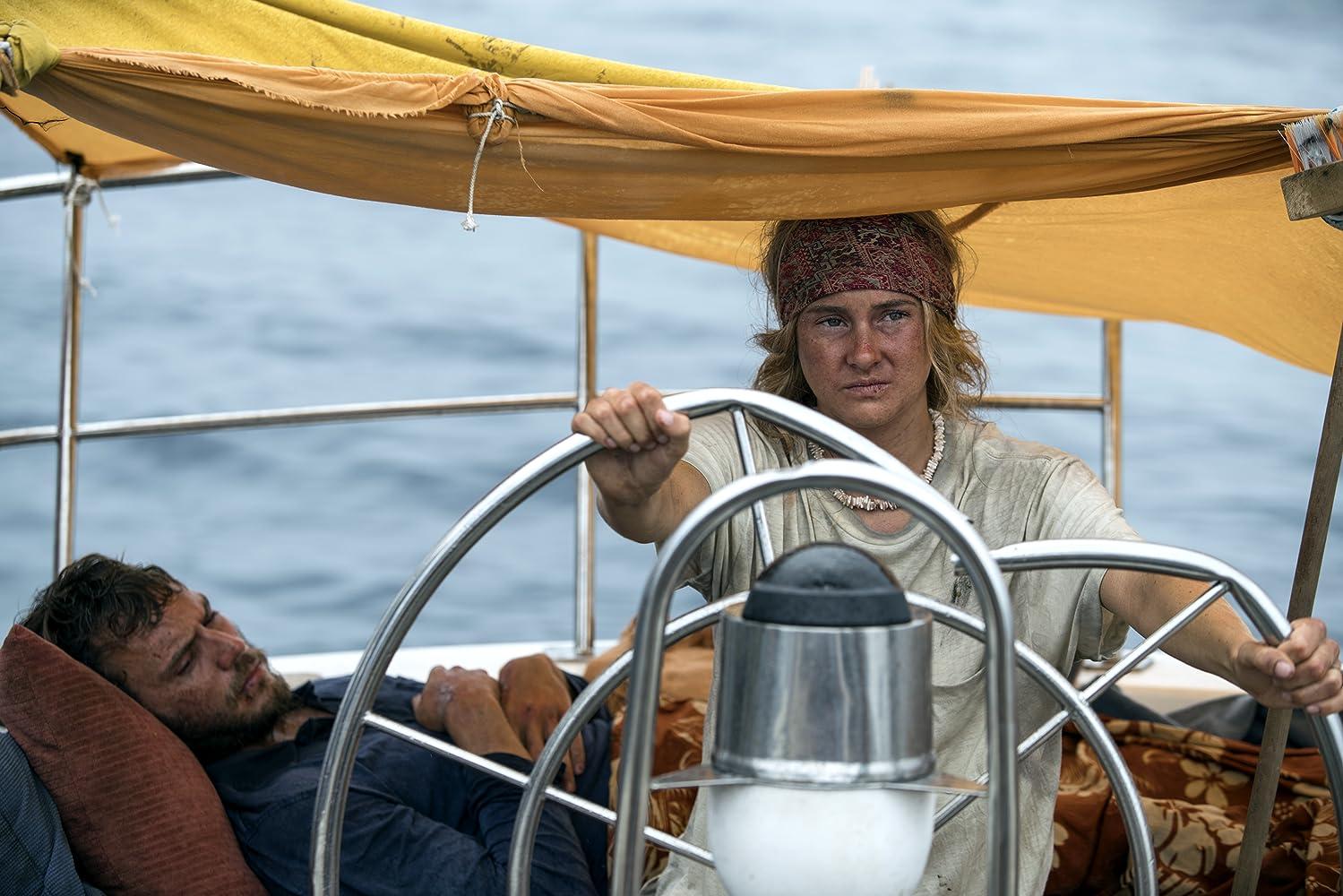 Shailene Woodley and Sam Claflin in Adrift (2018)