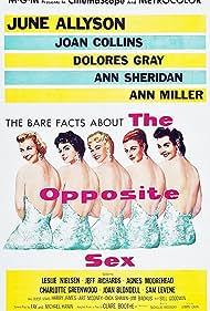 Leslie Nielsen, June Allyson, Joan Blondell, Joan Collins, Agnes Moorehead, Dolores Gray, Sam Levene, Ann Miller, and Ann Sheridan in The Opposite Sex (1956)