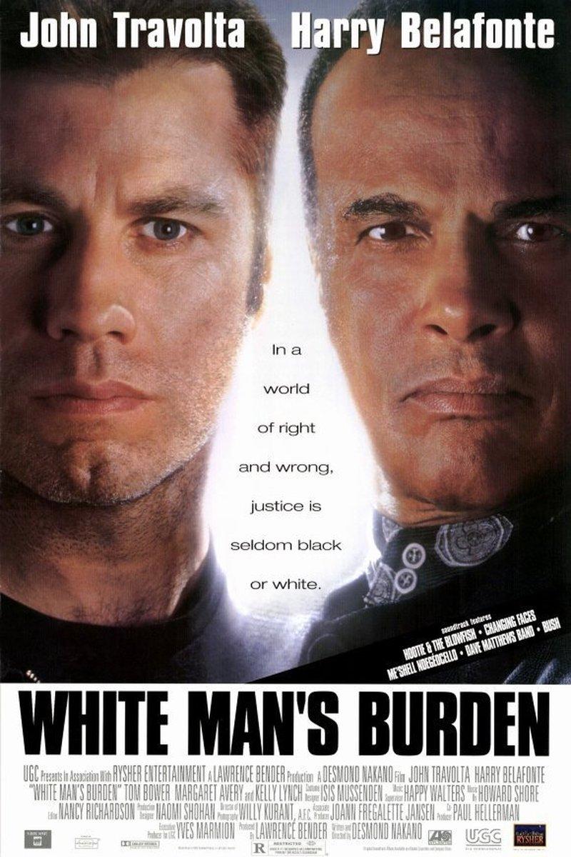 John Travolta and Harry Belafonte in White Man's Burden (1995)