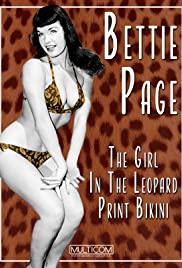 Bettie Page: The Girl in the Leopard Print Bikini Poster