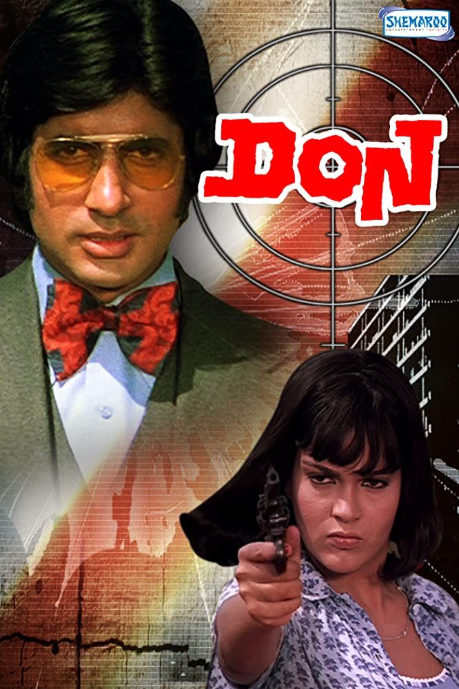 Amitabh Bachchan and Zeenat Aman in Don (1978)