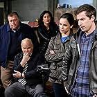 Dirk Blocker, Melissa Fumero, Joel McKinnon Miller, Andy Samberg, and Stephanie Beatriz in Brooklyn Nine-Nine (2013)