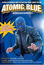 Atomic Blue Mexican Wrestler Poster