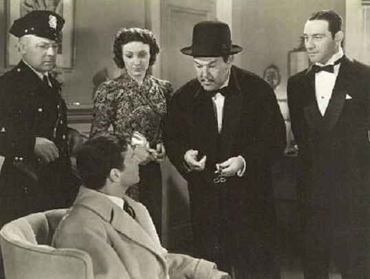 Ricardo Cortez, Charles D. Brown, Kay Linaker, Kane Richmond, and Sidney Toler in Charlie Chan in Reno (1939)