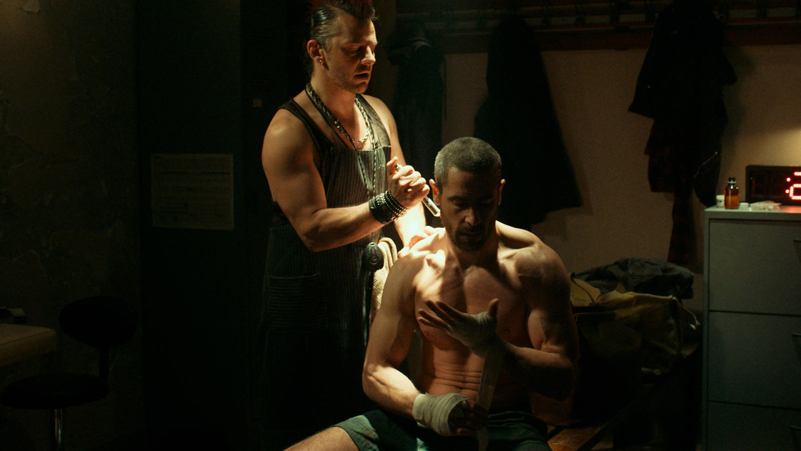 Ola Rapace and Yvon Martin in Arès (2016)