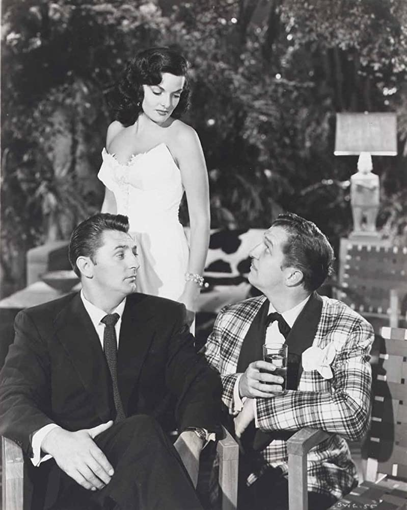 Robert Mitchum, Jane Russell, and Vincent Price in His Kind of Woman (1951)