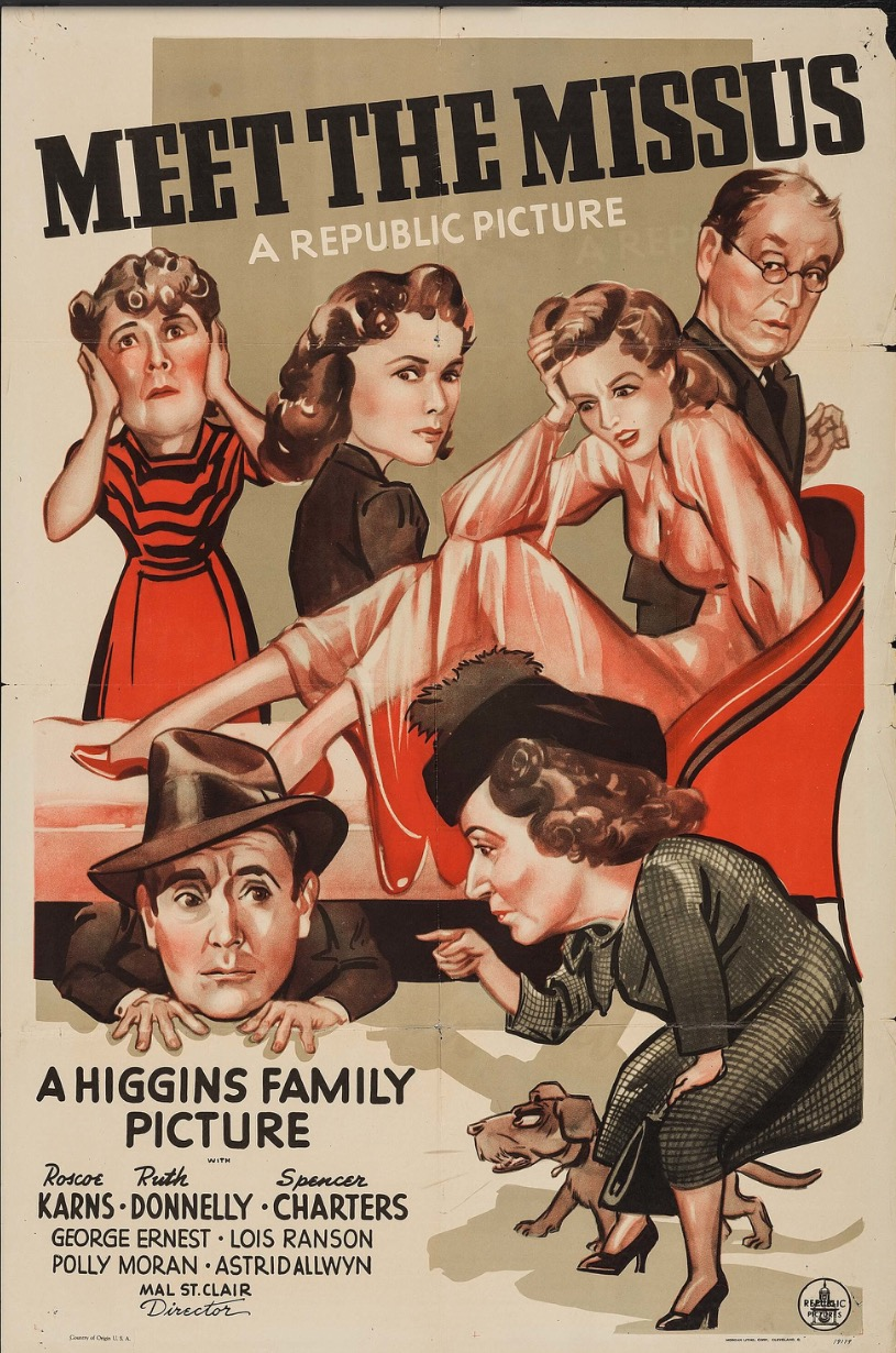 Astrid Allwyn, Spencer Charters, Ruth Donnelly, Roscoe Karns, Polly Moran, and Lois Ranson in Meet the Missus (1940)