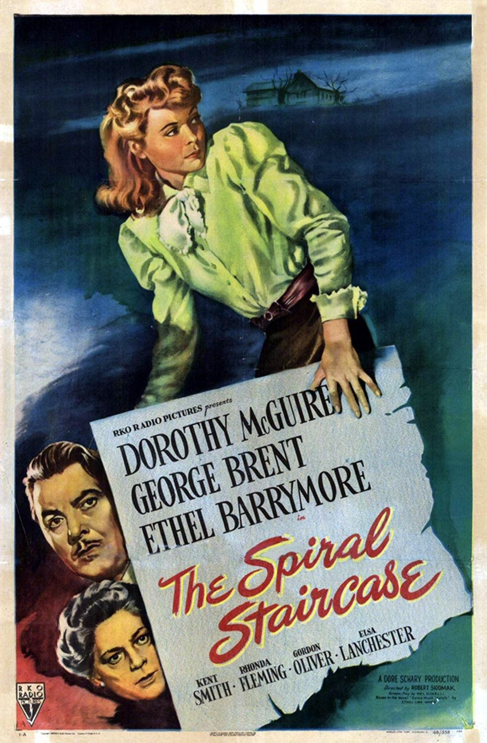 Ethel Barrymore, George Brent, and Dorothy McGuire in The Spiral Staircase (1946)