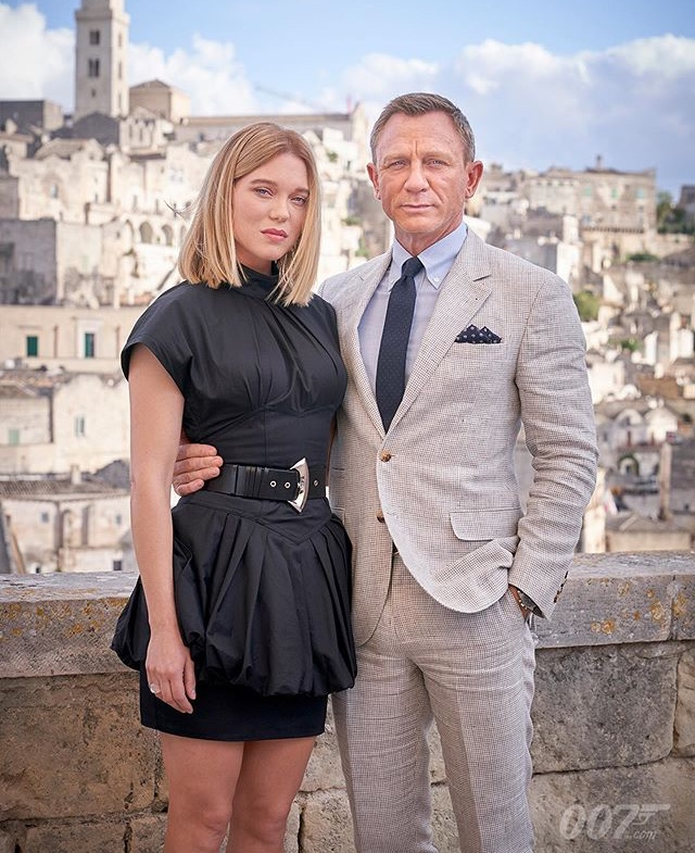Daniel Craig and Léa Seydoux at an event for No Time to Die (2021)