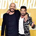 Frank Grillo and Patrick Hughes at an event for Hitman's Wife's Bodyguard (2021)