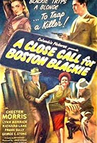 Lynn Merrick and Chester Morris in A Close Call for Boston Blackie (1946)