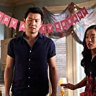 Andrea Bang and Simu Liu in Happy Ummaversary (2020)