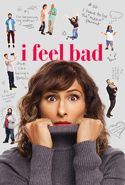 Paul Adelstein, James Buckley, Brian George, Madhur Jaffrey, Sarayu Blue, Johnny Pemberton, Zach Cherry, Lily Rose Silver, and Rahm Braslaw in I Feel Bad (2018)