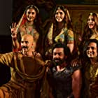 Bobby Deol, Akshay Kumar, Riteish Deshmukh, Kriti Kharbanda, Pooja Hegde, and Kriti Sanon at an event for Housefull 4 (2019)