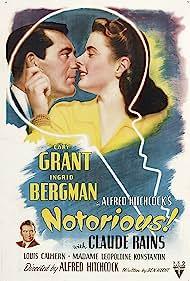 Ingrid Bergman, Cary Grant, and Claude Rains in Notorious (1946)