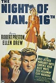 Ellen Drew, Robert Preston, and Alice White in The Night of January 16th (1941)
