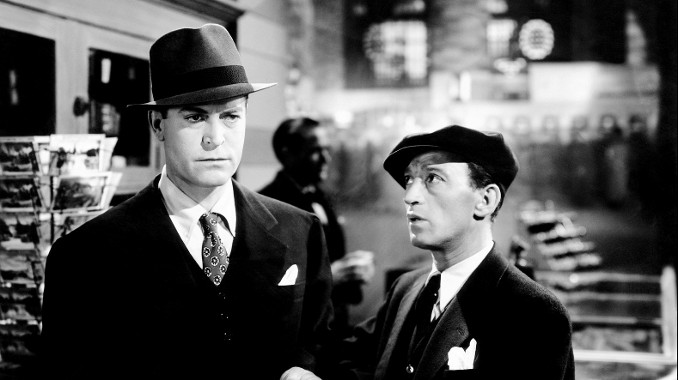 Chester Morris and George E. Stone in Boston Blackie Goes Hollywood (1942)