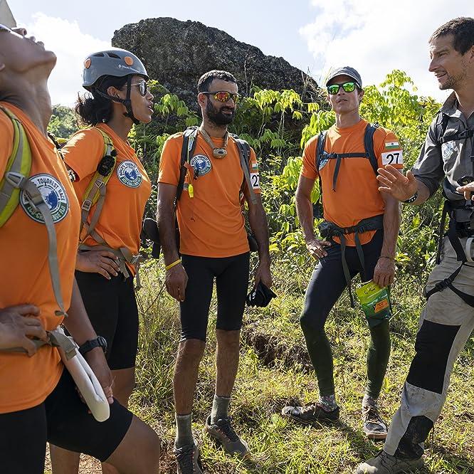 Tashi Malik, Nungshi Malik, Brandon Fisher, Corey Rich, and Bear Grylls in World's Toughest Race: Eco-Challenge Fiji (2020)