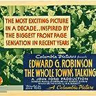 Edward G. Robinson, Jean Arthur, Edward Brophy, Arthur Byron, James Donlan, Wallace Ford, Etienne Girardot, Arthur Hohl, and Donald Meek in The Whole Town's Talking (1935)