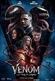 Woody Harrelson, Tom Hardy, Naomie Harris, and Michelle Williams in Venom: Let There Be Carnage (2021)
