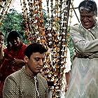 Aasif Mandvi and Om Puri in The Mystic Masseur (2001)