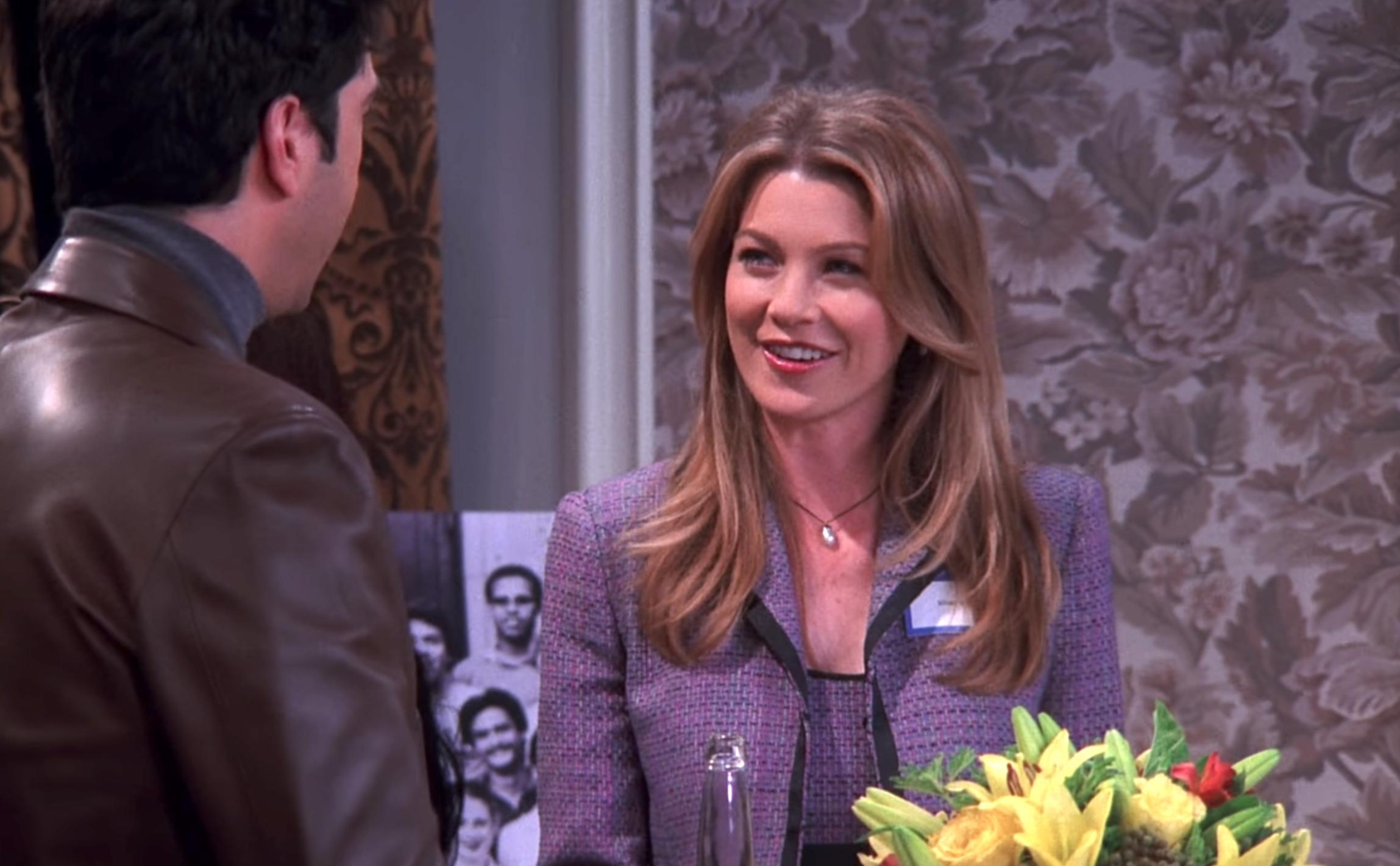 David Schwimmer and Ellen Pompeo in Friends (1994)