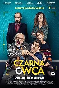 Wlodzimierz Press, Arkadiusz Jakubik, Magdalena Poplawska, and Kamil Szeptycki in Czarna owca (2021)