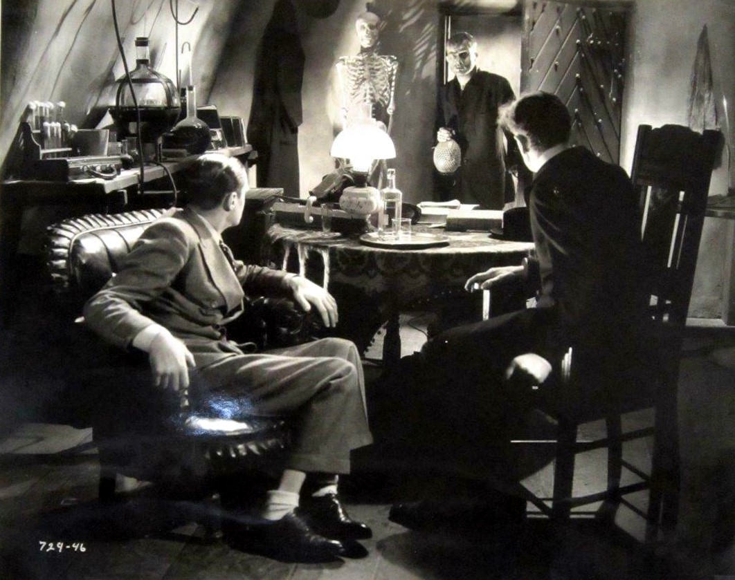 Colin Clive, Dwight Frye, and Ernest Thesiger in Bride of Frankenstein (1935)