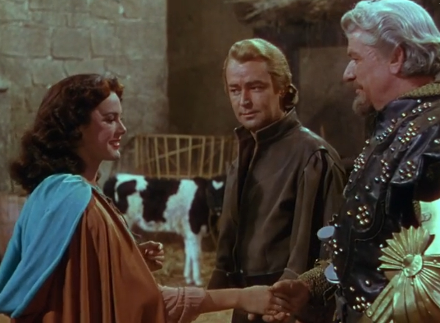 Alan Ladd and Patricia Medina in The Black Knight (1954)