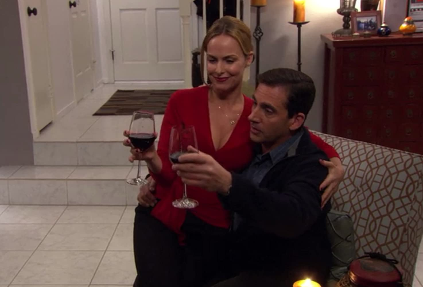 Melora Hardin and Steve Carell in The Office (2005)