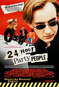 Steve Coogan, Danny Cunningham, and Chris Coghill in 24 Hour Party People (2002)