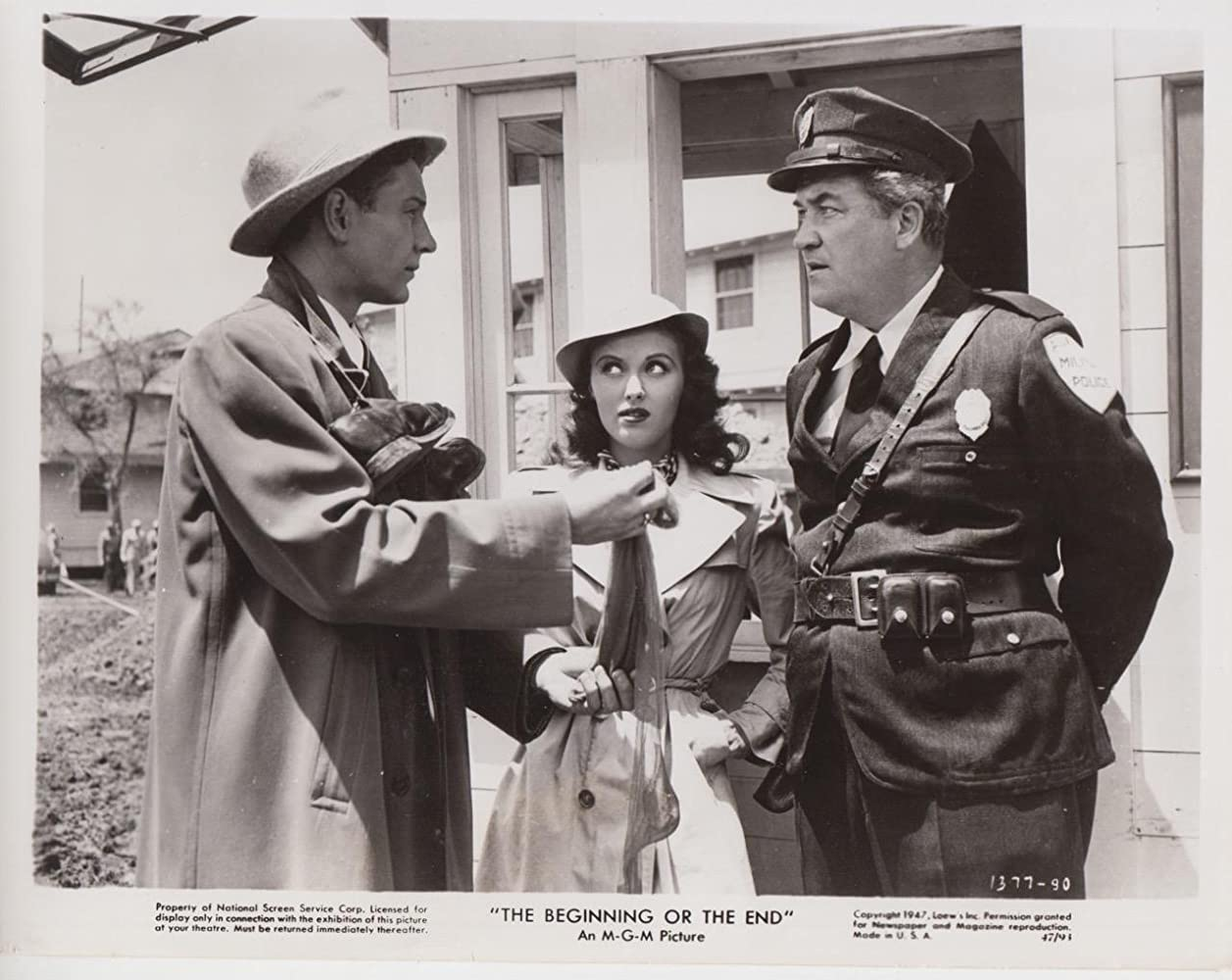 Tom Drake, Ralph Dunn, and Beverly Tyler in The Beginning or the End (1947)