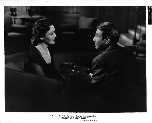 Linda Darnell and Gary Merrill in Night Without Sleep (1952)