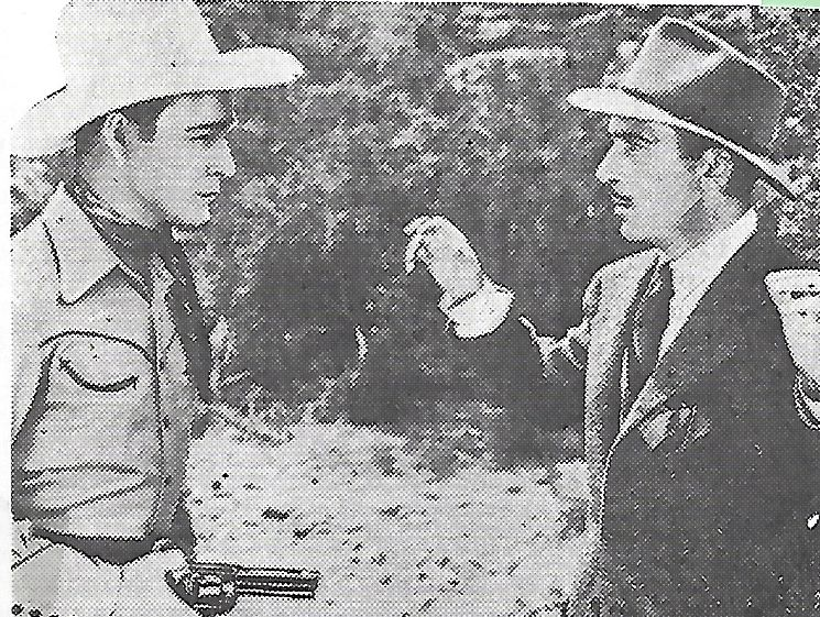 Roy Rogers and Bradley Page in Sons of the Pioneers (1942)
