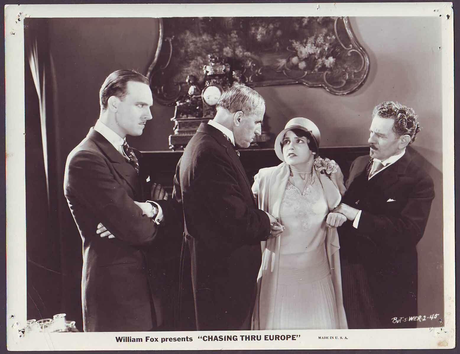 Sue Carol, Gustav von Seyffertitz, and Gavin Gordon in Chasing Through Europe (1929)