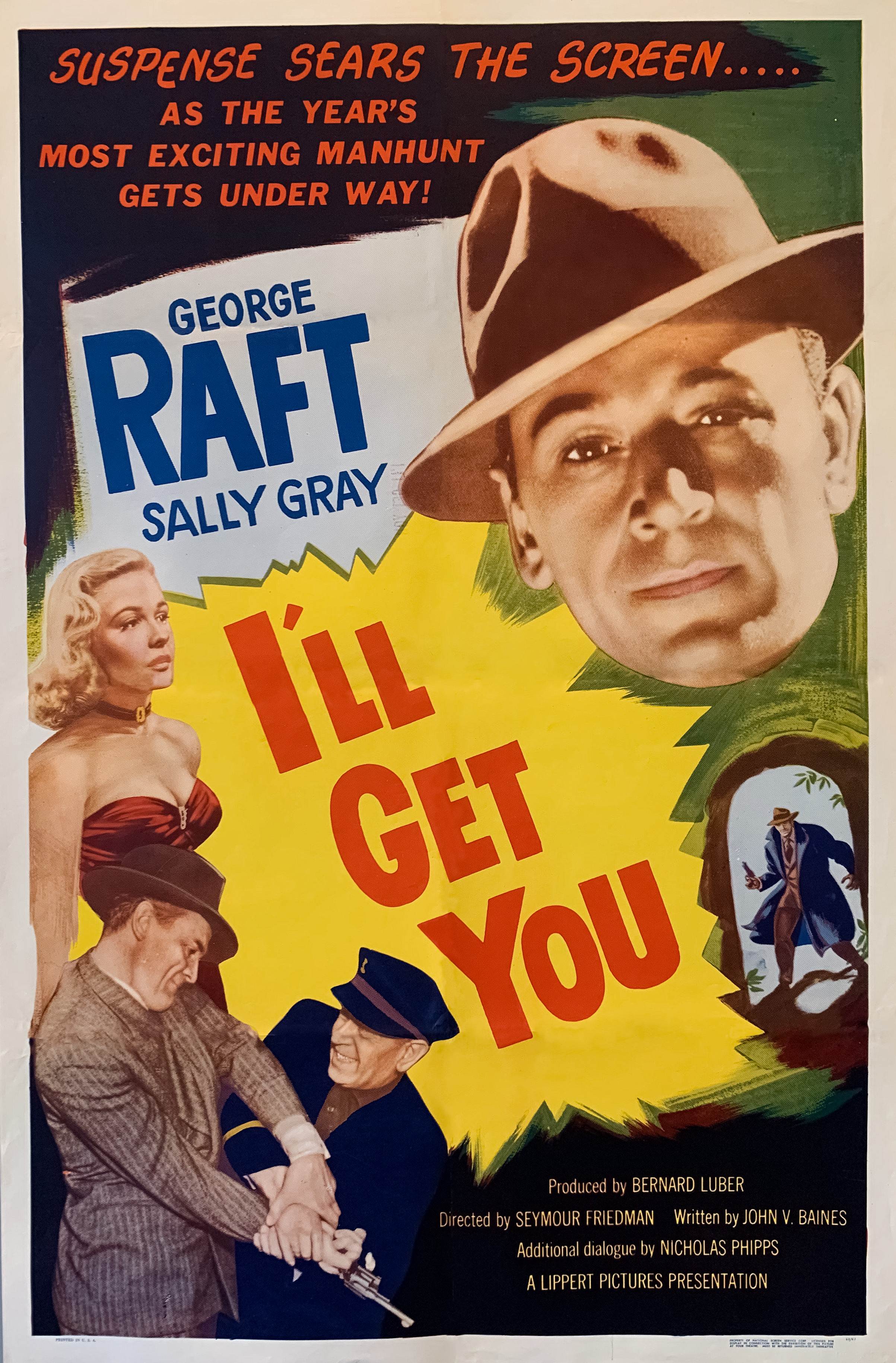 Sally Gray and George Raft in Escape Route (1952)