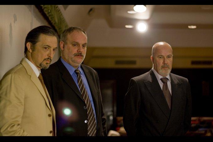 Alberto González, Aníbal Soto, Juanma Lara, and Rafa Castillo-Romero in La Corporación (2008)