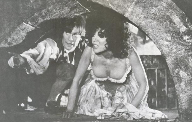 Joan Collins and Nicky Henson in The Bawdy Adventures of Tom Jones (1976)