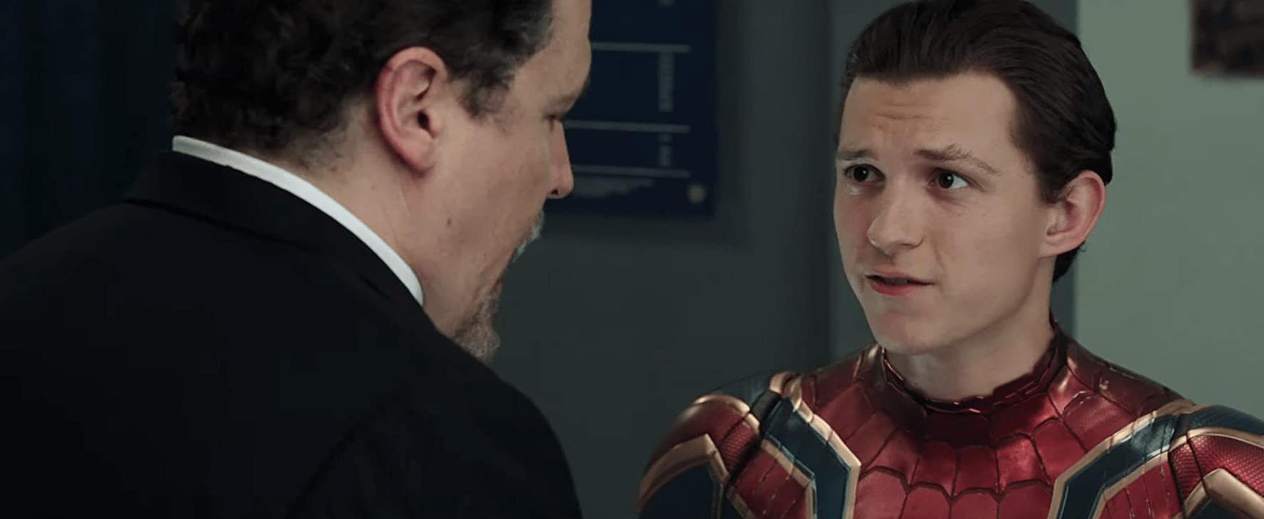 Jon Favreau and Tom Holland in Spider-Man: Far from Home (2019)