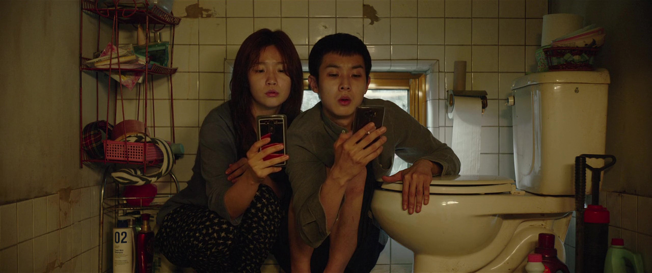Woo-sik Choi and So-dam Park in Gisaengchung (2019)