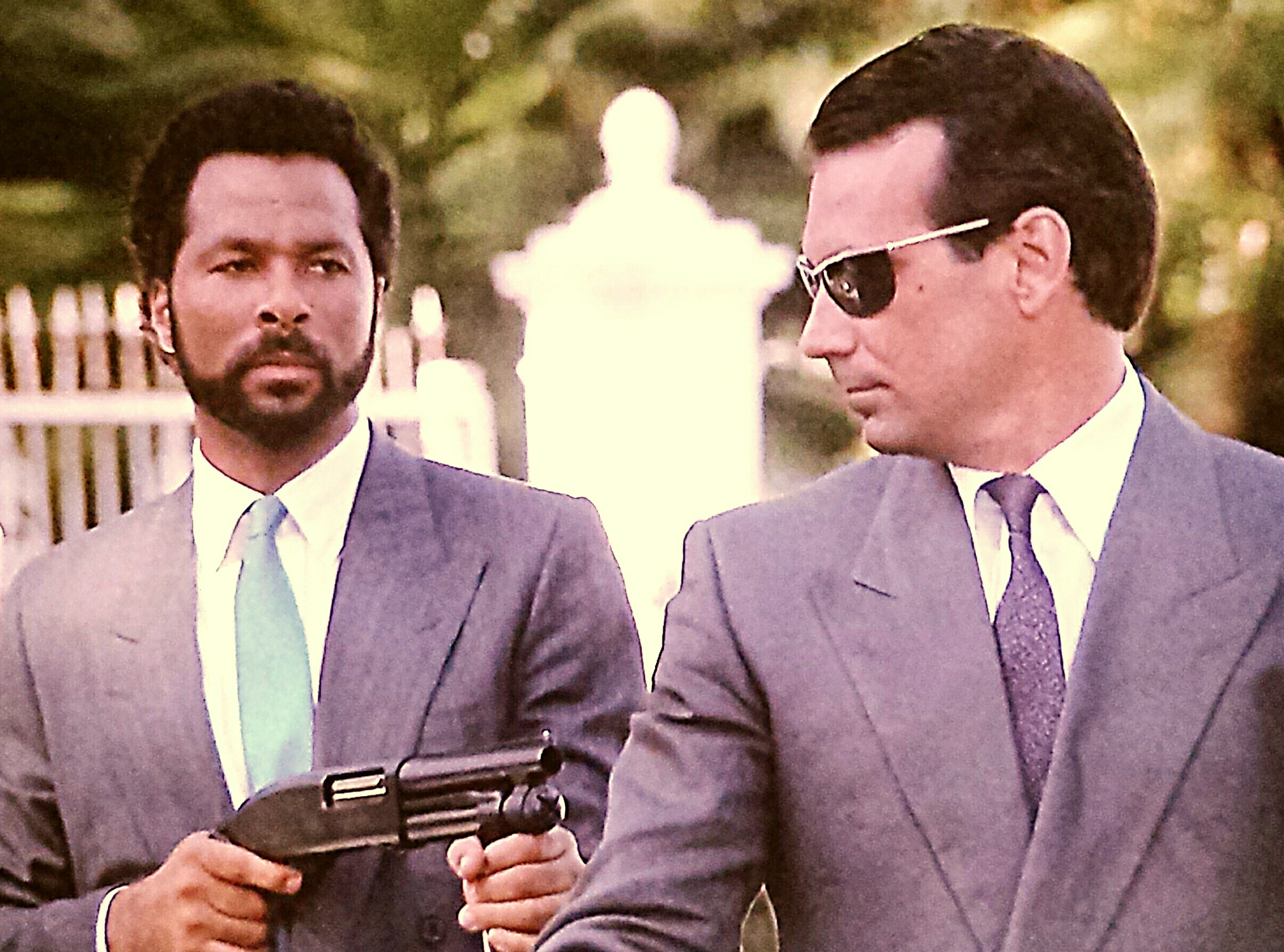 Philip Michael Thomas and Rafael Lima in Miami Vice (1984)