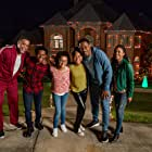 Lamman Rucker, L. Warren Young, Meagan Holder, Lindsey Blackwell, Bailey Tippen, and Khamary Rose in Cooking Up Christmas (2020)