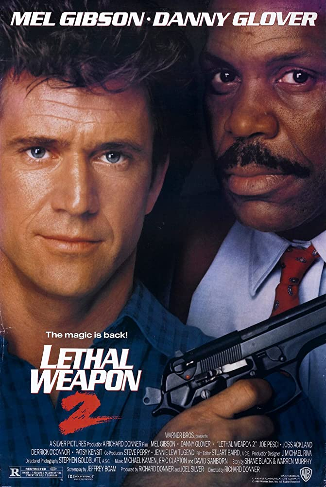Mel Gibson and Danny Glover in Lethal Weapon 2 (1989)
