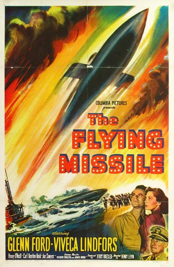 Glenn Ford, Viveca Lindfors, and Henry O'Neill in The Flying Missile (1950)