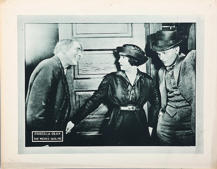 Spottiswoode Aitken, Lon Chaney, and Priscilla Dean in The Wicked Darling (1919)